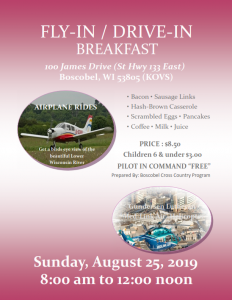 Airport Fly-In Breakfast poster
